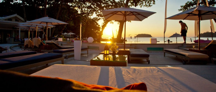 Re Ka Ta Beach Club Phuket Sunset