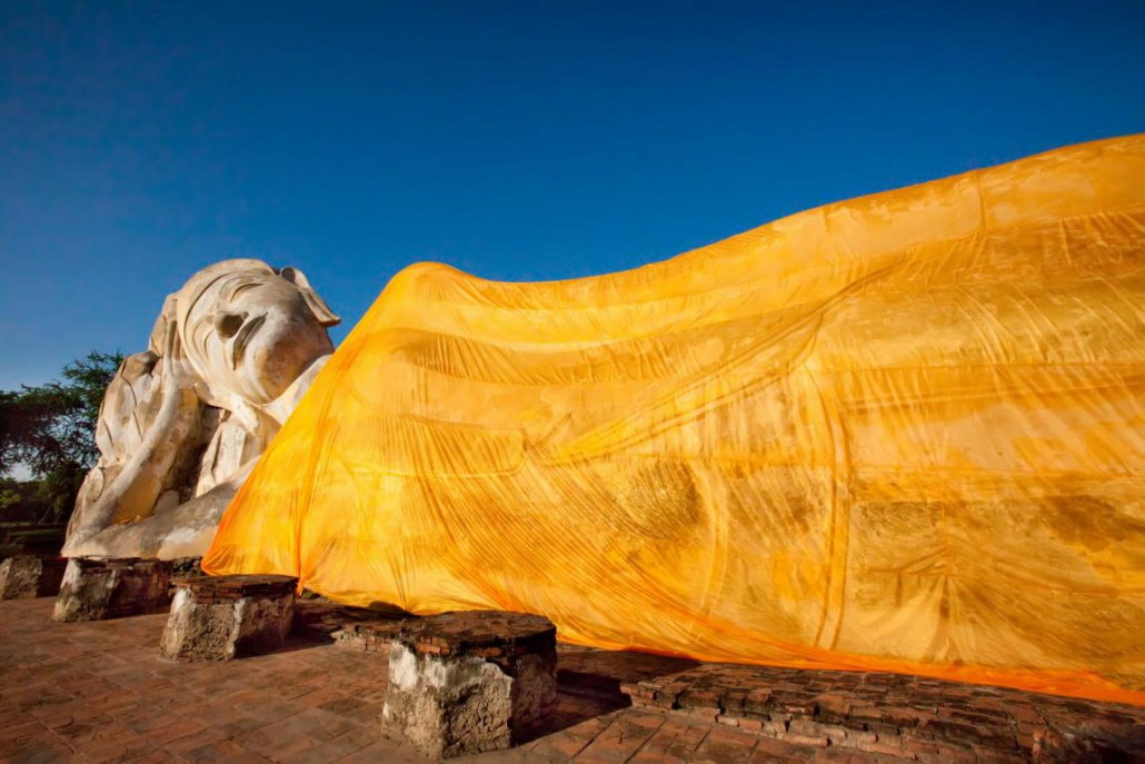 Ayutthaya Historical Park ruhender Buddha