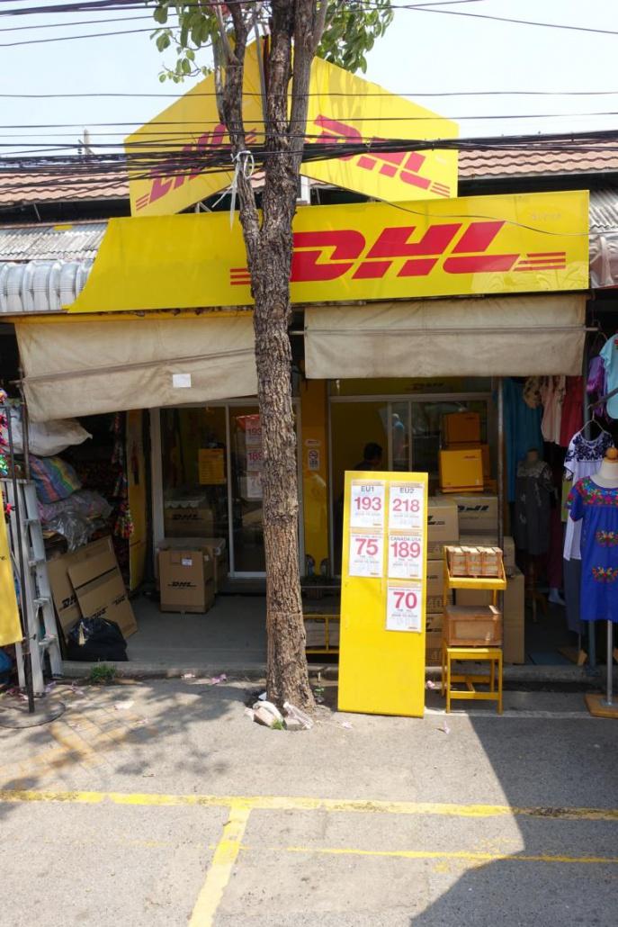 Chatuchak Market Bangkok DHL